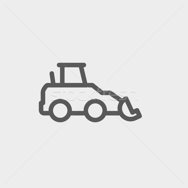 Car dumper thin line icon Stock photo © RAStudio