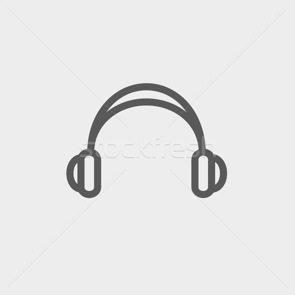 Headphones thin line icon Stock photo © RAStudio
