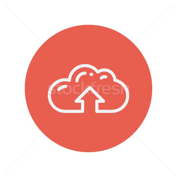 雲 アップロード 薄い 行 アイコン ウェブ ストックフォト © RAStudio