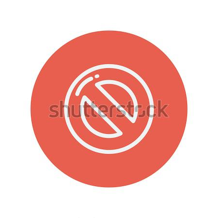 Stop thin line icon Stock photo © RAStudio