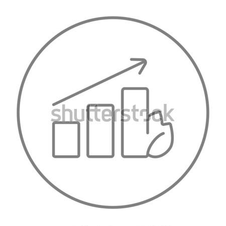 Growing graph thin line icon Stock photo © RAStudio