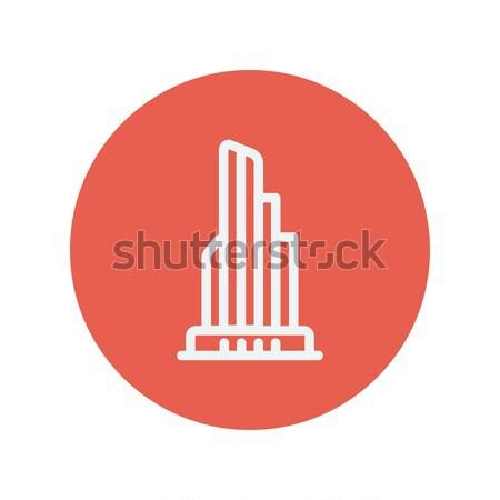 Immeuble de bureaux léger ligne icône web mobiles Photo stock © RAStudio