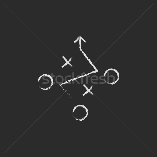 Tactical plan icon drawn in chalk. Stock photo © RAStudio