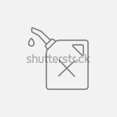 Gas contenitore icona gesso Foto d'archivio © RAStudio