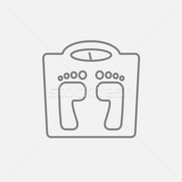 Weighing scale line icon. Stock photo © RAStudio