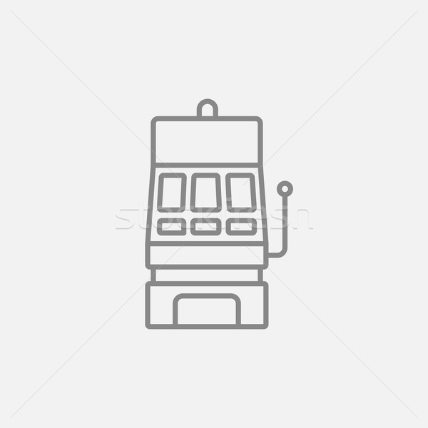 Slot machine line icon. Stock photo © RAStudio