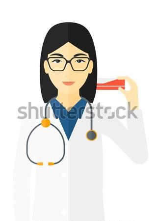 Médico jeringa vector diseno Foto stock © RAStudio