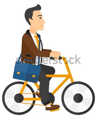 Człowiek rowerowe pracy wektora projektu ilustracja Zdjęcia stock © RAStudio
