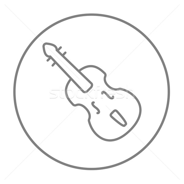 Cello line icon. Stock photo © RAStudio