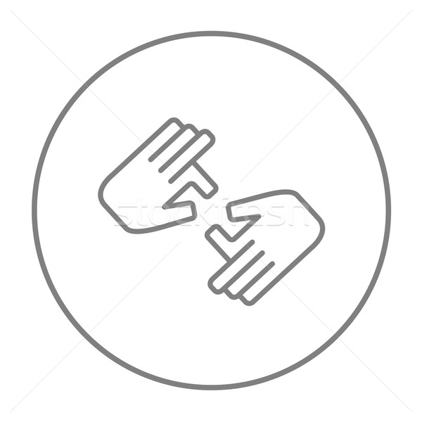 Finger language line icon. Stock photo © RAStudio