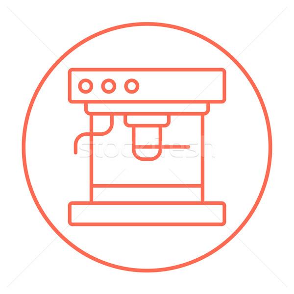 Koffiezetapparaat lijn icon web mobiele infographics Stockfoto © RAStudio