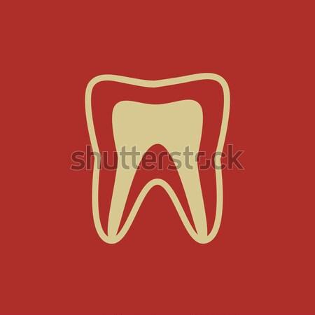 Molar tooth line icon. Stock photo © RAStudio