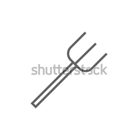 Pitchfork line icon. Stock photo © RAStudio