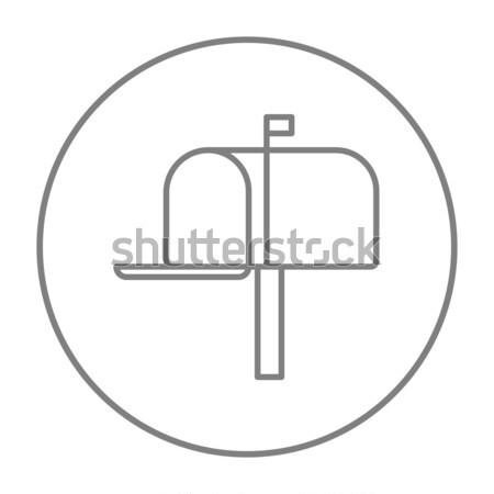 Postaláda vonal ikon sarkok háló mobil Stock fotó © RAStudio