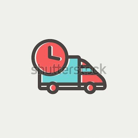 Teslim kamyon hat ikon köşeler web hareketli Stok fotoğraf © RAStudio
