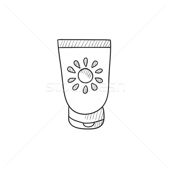 Sunscreen sketch icon. Stock photo © RAStudio