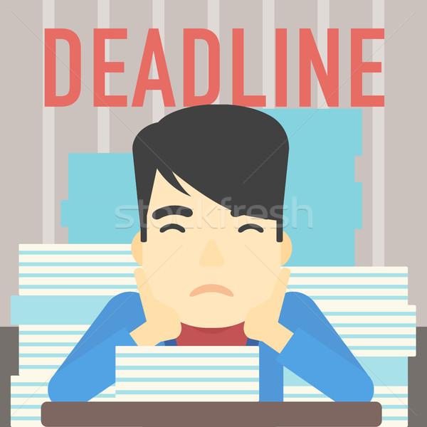Affaires problème date limite asian séance Photo stock © RAStudio