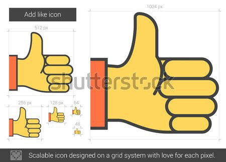 Add like line icon. Stock photo © RAStudio