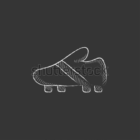 サッカー ブート スケッチ アイコン ベクトル 孤立した ストックフォト © RAStudio