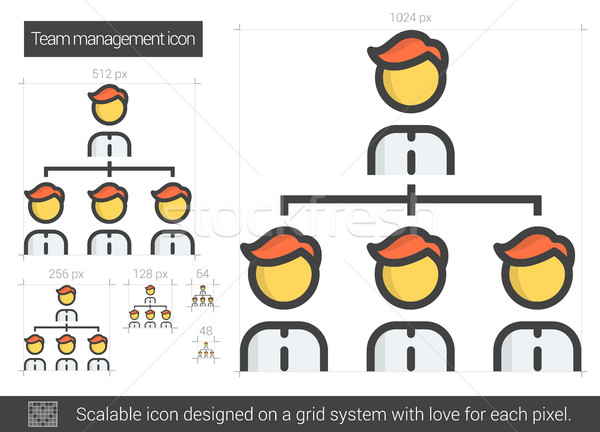 Takım hat ikon vektör yalıtılmış beyaz Stok fotoğraf © RAStudio