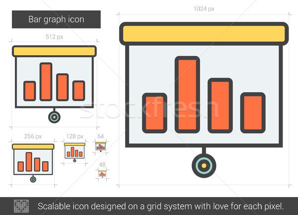çubuk grafik hat ikon vektör yalıtılmış beyaz Stok fotoğraf © RAStudio