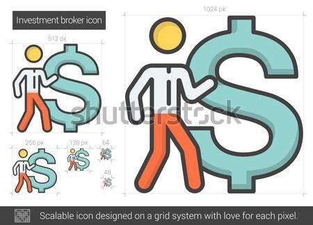 Inversión línea icono vector aislado blanco Foto stock © RAStudio