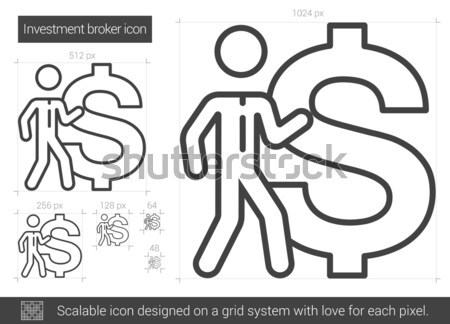 Investment broker line icon. Stock photo © RAStudio