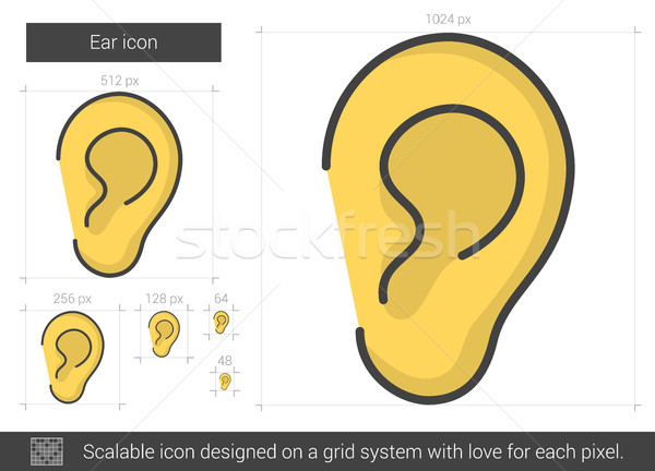 Ear line icon. Stock photo © RAStudio