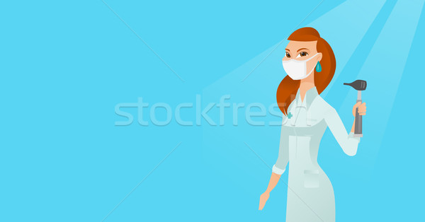Ear nose throat doctor vector illustration. Stock photo © RAStudio
