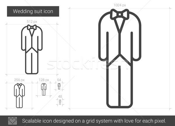 結婚式 スーツ 行 アイコン ベクトル 孤立した ストックフォト © RAStudio