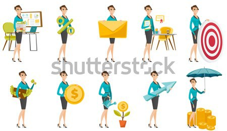Business woman, stewardess, doctor profession set. Stock photo © RAStudio