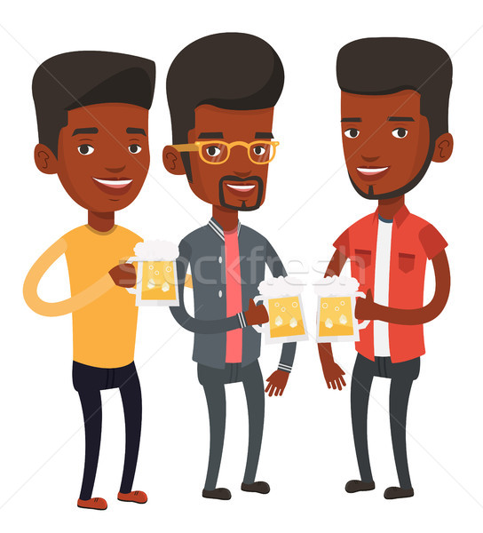 группа друзей пива Паб молодые Сток-фото © RAStudio