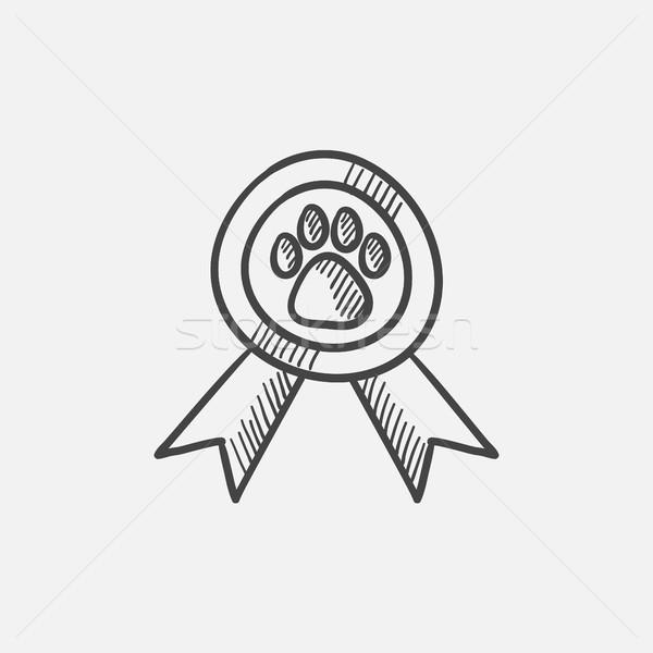 Dog award sketch icon. Stock photo © RAStudio