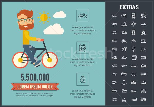 Transportation infographic template and elements. Stock photo © RAStudio
