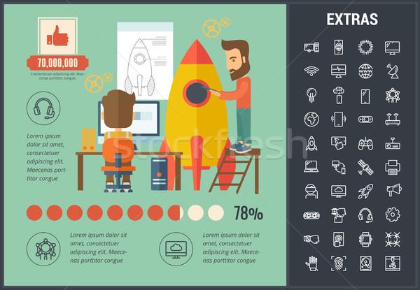 Startup sjabloon communie iconen aanpasbare Stockfoto © RAStudio