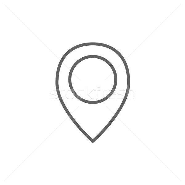 Map pointer line icon. Stock photo © RAStudio