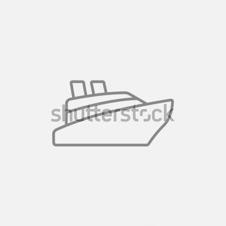 Cruiseschip lijn icon hoeken web mobiele Stockfoto © RAStudio