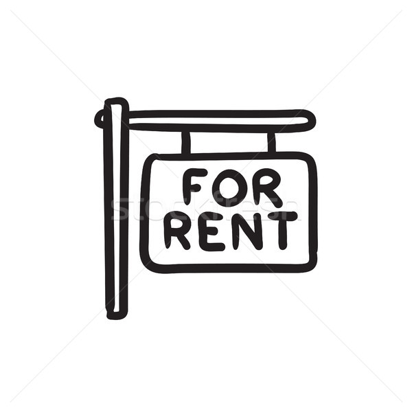 For rent placard sketch icon. Stock photo © RAStudio