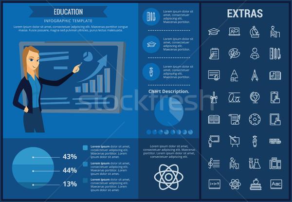образование шаблон Элементы иконки настраиваемый Сток-фото © RAStudio