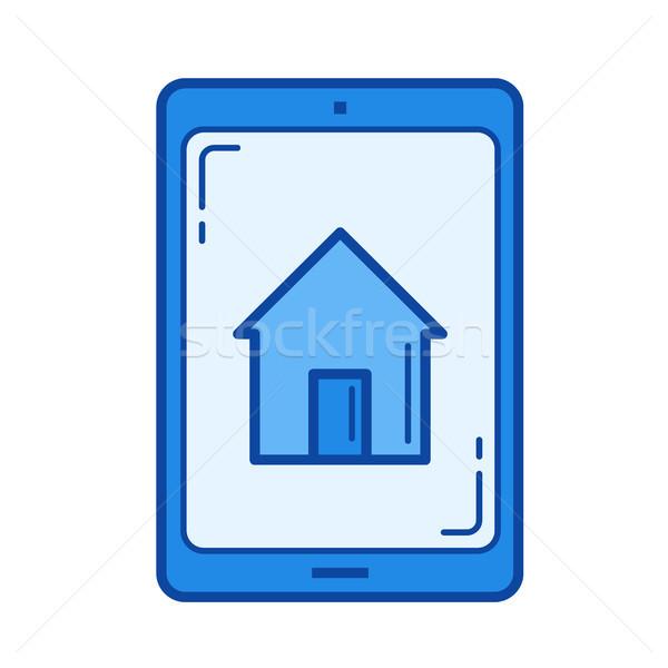 Real estate advertisement line icon. Stock photo © RAStudio