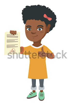 African school child holding pile of textbooks. Stock photo © RAStudio
