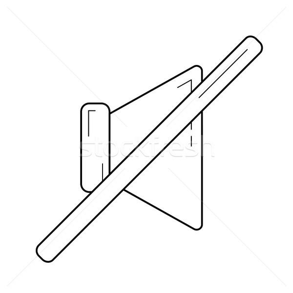 Hangerő el vonal ikon vektor izolált Stock fotó © RAStudio