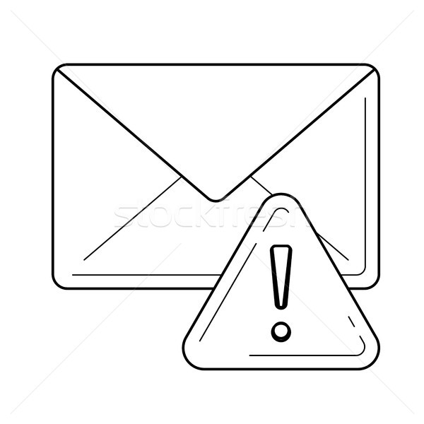 Email spam with warning sign line icon. Stock photo © RAStudio