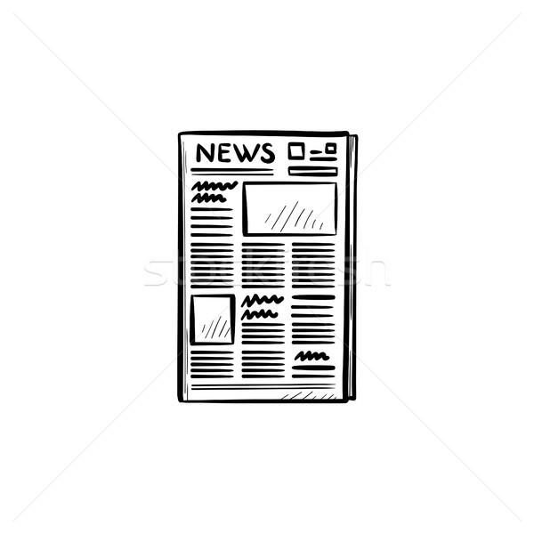 Journal dessinés à la main doodle icône tous les jours Photo stock © RAStudio