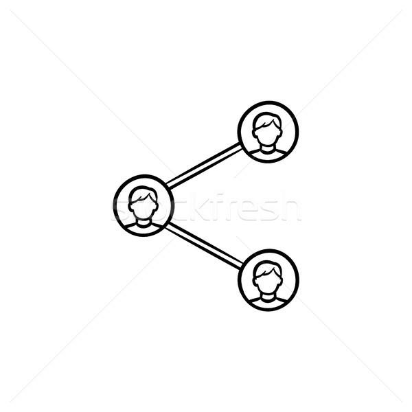 Social media sharing hand drawn outline doodle icon. Stock photo © RAStudio