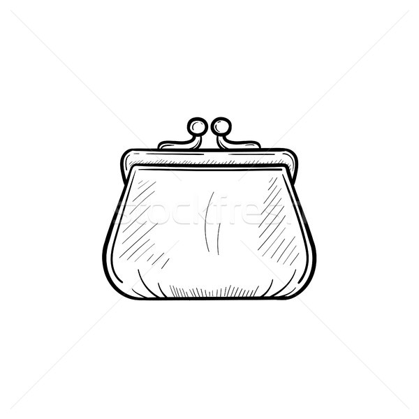 Purse hand drawn outline doodle icon. Stock photo © RAStudio