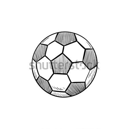 Fussball Hand Gezeichnet Gliederung Doodle Symbol