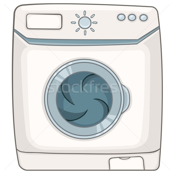 Cartoon wasmachine home geïsoleerd witte vector Stockfoto © RAStudio