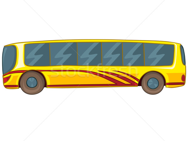 Cartoon bus geïsoleerd witte vector eps8 Stockfoto © RAStudio
