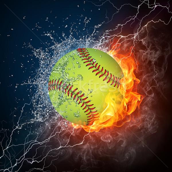 Beisebol bola fogo água gráficos computador Foto stock © RAStudio